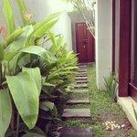 walkway inside the villa
