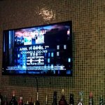 TV at the bar.