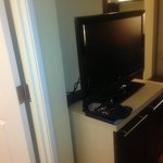 flat screen TV, nice touch
