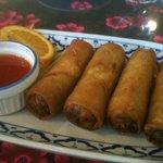 Delicious veggie & rice vermicelli spring rolls