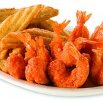 Shrimp with Wedge Fries