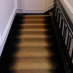 stairway carpeting appeared dirty