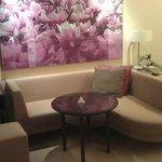 Sofa and work area