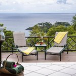 View from Villa Poolside loungers