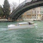 The Accademia bridge, next to the hotel