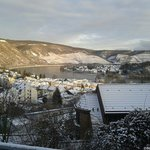 Snow covered Boppard