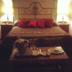 The Honeymoon Suite & Turndown (red pillows were a gift) - my Instagram photo