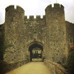 entrance gate to Amberley Castle