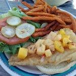 Caribbean Fish Sandwich