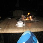 evening tea by the fire tables