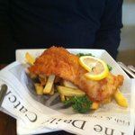 Fish and Chips; well presented