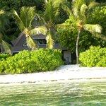 Les logements vus de la plage