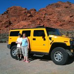 Touring around in the yellow hummer!