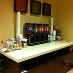 24 hour fully stocked Coffee/Tea/Cocoa Bar