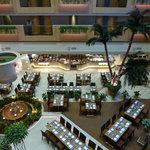 Atrium inside hotel