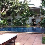 the pool at Villa Langka
