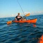 Kayak fishing with Walter