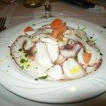 Antipasto, insalata di polipo