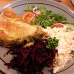courgetter quiche with side salad