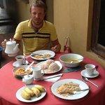 traditional sri lankan breakfast!! delicious!!!