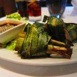 Appetizer of Gai-Hor Bai Dtoei