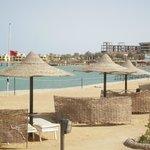 vue de la plage aménagée