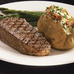 New York Striploin and Baked Potato