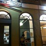 red box exterior