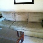 Couch has seen better days