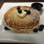 Yummy Blueberry Pancakes at Jacks on Marion made with our blueberries!