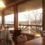 Now NON SMOKING. Overlooks river. Outside picture of the building is NOT the restaurant. I