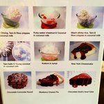 they like sweets in Bangkok, side one of desert menu