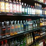 Our liquor wall...