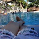 Poll viewing the resort villas
