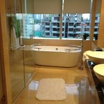 our bathroom , not a great view but it is Manila after all