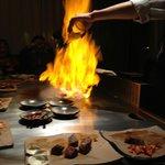 food on fire