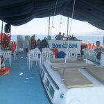 On board the Bora-Bora catamaran