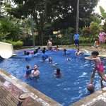 Crazy time at the big kids' pool