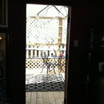 View from the Sugar Shack to the little outdoor patio