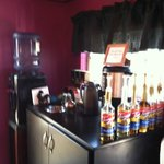 Coffee with flavorings available