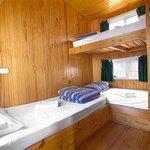 Waterfront Two Bedroom Cabin Bunk Room