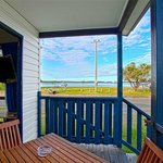 Waterfront Two Bedroom Cabin Deck with lockable deck