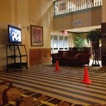 work being done in lobby, plenty of notice this was occurring during our stay