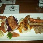 Beautifully presented tasting platter