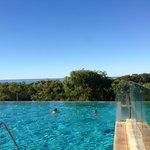 Pool overlooking the beach.