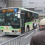 Buss 88 drive from Osaka Station to  Super Hotel Osaka & Natural Hot Springs