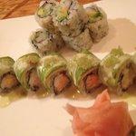 Wasabi roll n California roll