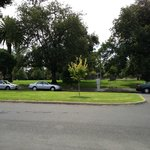 view of park across road