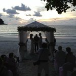 Wedding ceremony organised by the resort