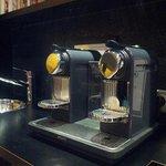 Nespresso machine in the lobby
